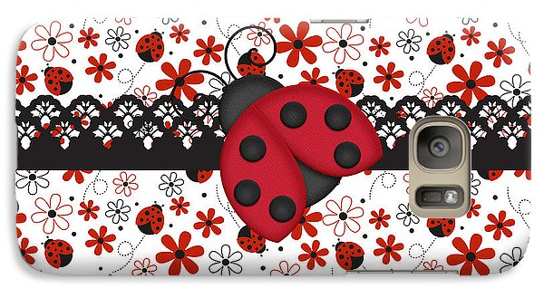 Charming Ladybugs Galaxy Case by Debra  Miller