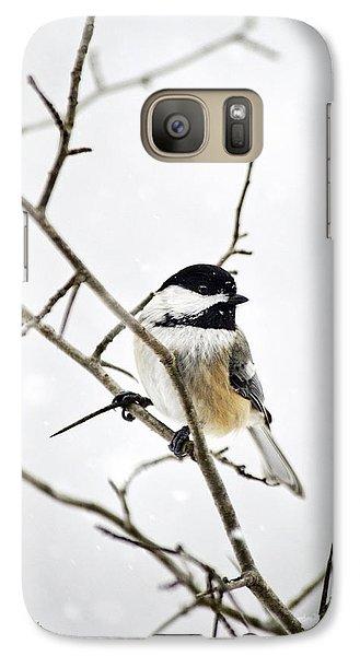 Charming Winter Chickadee Galaxy S7 Case