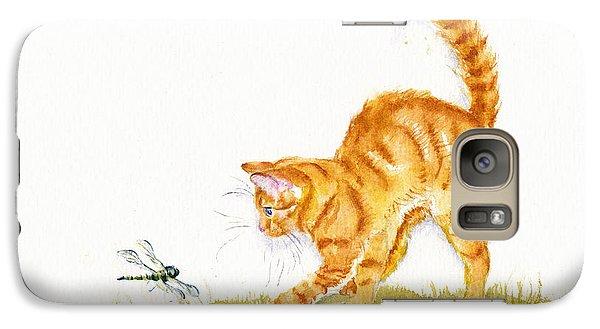 Cat Galaxy S7 Case - Chasing The Dragon by Debra Hall