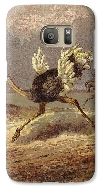 Chasing The Ostrich Galaxy S7 Case