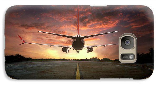 Airplanes Galaxy S7 Case - Chasing The Sunset by Ganjar Rahayu