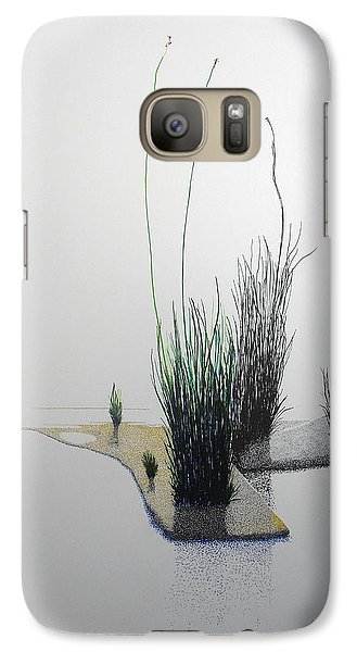 Galaxy Case featuring the painting Chasm by A  Robert Malcom