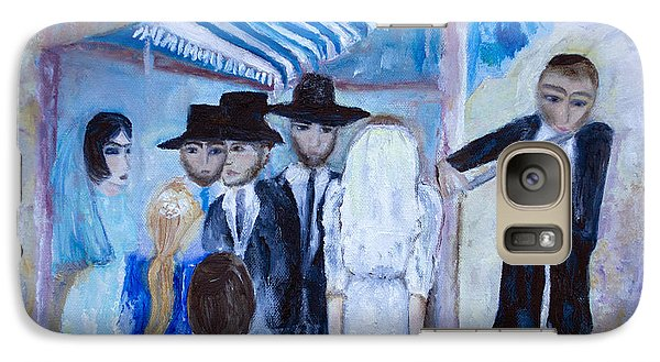 Galaxy Case featuring the painting Chassidic Wedding by Aleezah Selinger