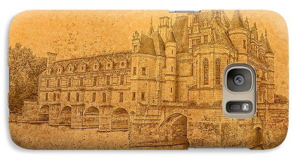 Galaxy Case featuring the photograph Chateau De Chenonceau by Nigel Fletcher-Jones