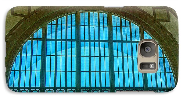 Galaxy Case featuring the photograph Chattanooga Train Depot Stained Glass Window by Susan  McMenamin