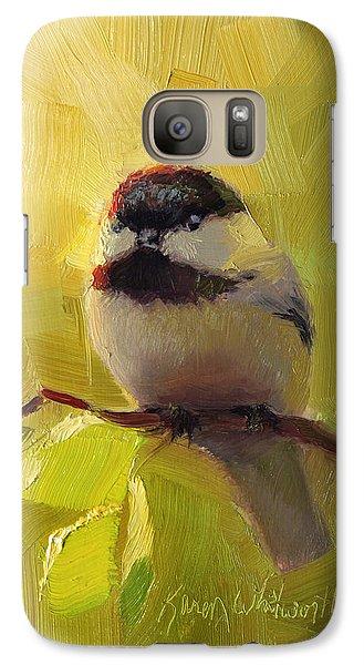 Chatty Chickadee - Cheeky Bird Galaxy S7 Case