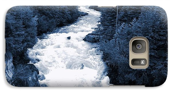 Galaxy Case featuring the photograph Cheakamus Glacial River - Whistler by Amanda Holmes Tzafrir