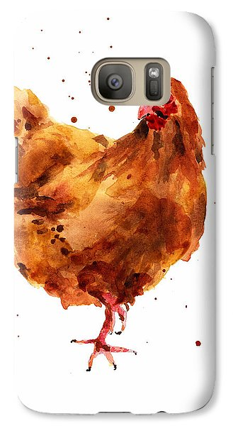 Cheeky Chicken Galaxy S7 Case by Alison Fennell