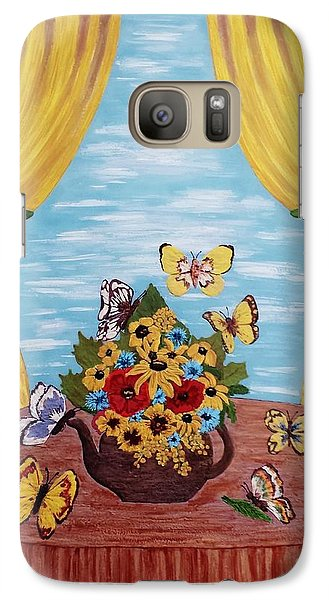 Galaxy Case featuring the painting Cheerful Butterflies by Jasna Gopic