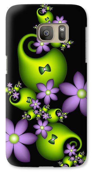 Galaxy Case featuring the digital art Cheerful by Gabiw Art