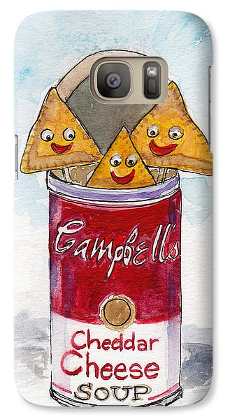 Galaxy Case featuring the painting Cheesy Grin by Julie Maas