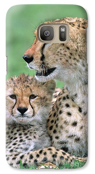 Cheetah Mother And Cub Galaxy S7 Case
