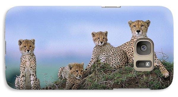 Cheetah Mother And Cubs Masai Mara Galaxy S7 Case