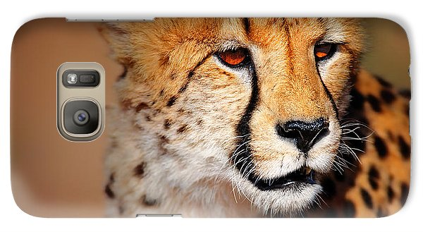 Cheetah Portrait Galaxy Case by Johan Swanepoel