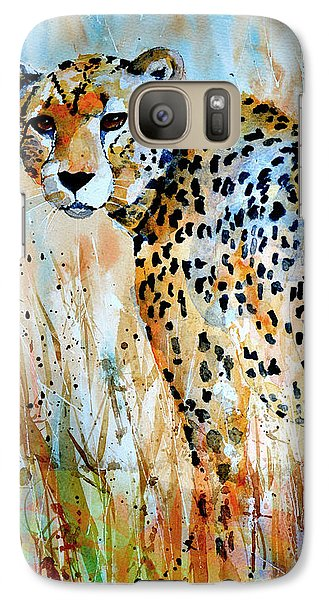 Galaxy Case featuring the painting Cheetah by Steven Ponsford