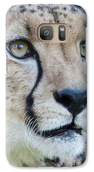 Galaxy Case featuring the photograph Cheetah Up Close by Lula Adams