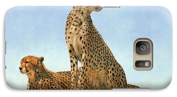 Cheetahs Galaxy Case by David Stribbling