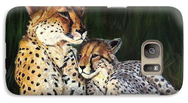 Galaxy Case featuring the painting Cheetahs by LaVonne Hand