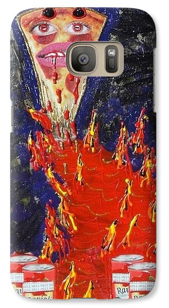 Galaxy Case featuring the painting Pizza by Lisa Piper