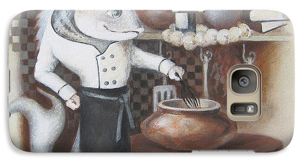 Galaxy Case featuring the painting Chef by Marina Gnetetsky