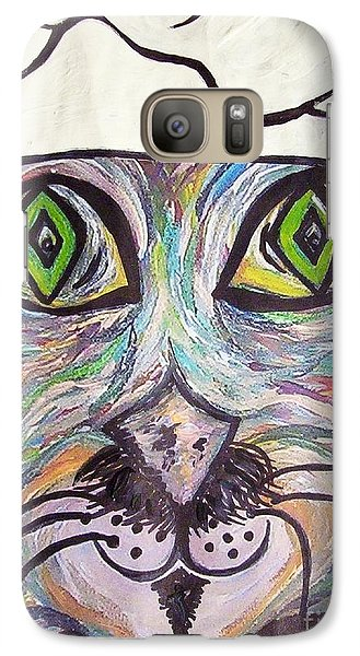 Galaxy Case featuring the painting Chef Pierre ... A Cat With Good Taste by Eloise Schneider
