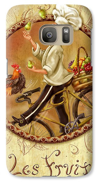 Chefs On Bikes-les Fruits Galaxy S7 Case
