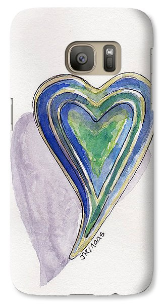 Galaxy Case featuring the painting Cherished Heart by Julie Maas