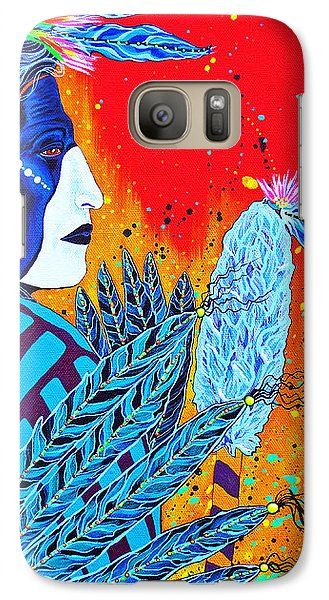 Galaxy Case featuring the painting Cherokee Dancer by Debbie Chamberlin