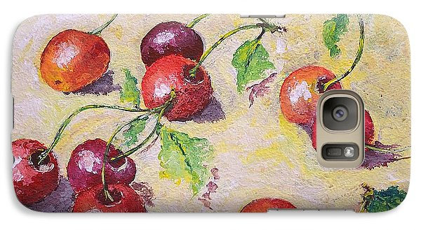Galaxy Case featuring the painting Cherries On The Ground by Kathleen Pio