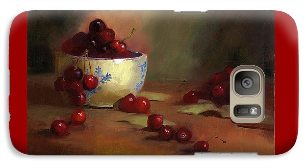 Galaxy Case featuring the painting Cherries by Susan Thomas
