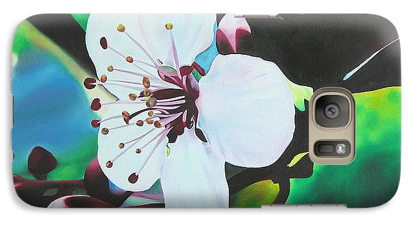 Galaxy Case featuring the painting Cherry Blosom by Joshua Morton