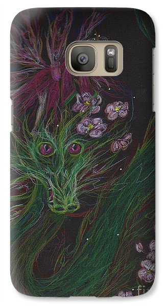 Galaxy Case featuring the drawing Cherry Blossom Drunk by Dawn Fairies