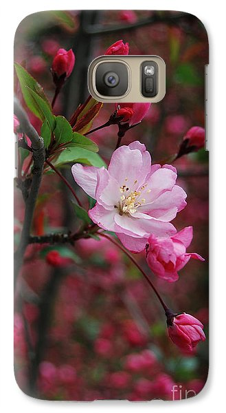 Galaxy Case featuring the photograph Cherry Blossom by Eva Kaufman