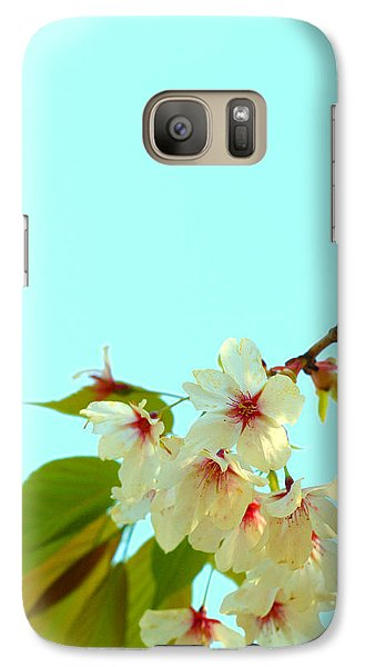 Galaxy Case featuring the photograph Cherry Blossom Flowers by Rachel Mirror
