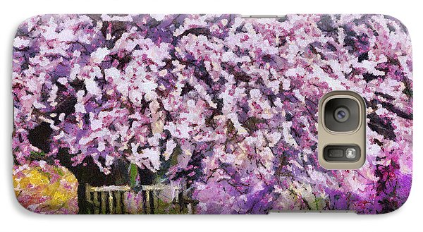 Galaxy Case featuring the painting Cherry Blossom by Georgi Dimitrov