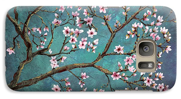 Galaxy Case featuring the painting Cherry Blossom by Nancy Bradley