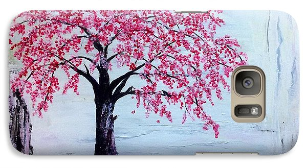 Galaxy Case featuring the painting Cherry Blossom  by Renate Voigt