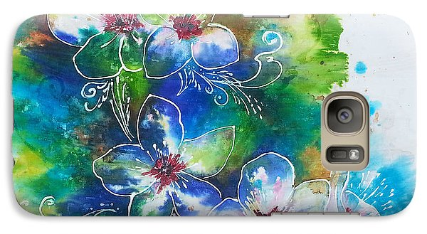 Galaxy Case featuring the painting Cherry Blossom Tree by Christy  Freeman