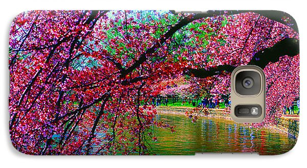 Galaxy Case featuring the photograph Cherry Blossom Walk Tidal Basin At 17th Street by Tom Jelen