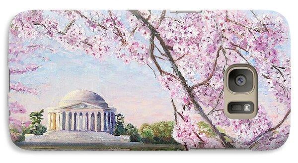 Jefferson Memorial Cherry Blossoms Galaxy S7 Case
