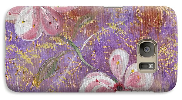 Galaxy Case featuring the painting Cherry Blossoms by John Keaton