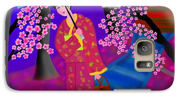 Galaxy Case featuring the digital art Cherry Blossoms by Latha Gokuldas Panicker