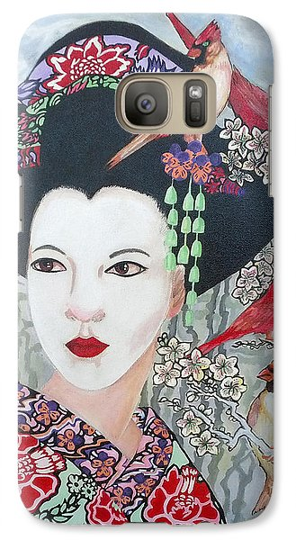 Galaxy Case featuring the painting Cherry Blossoms by Suzanne Silvir