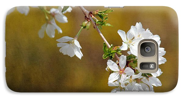 Galaxy Case featuring the photograph Cherry Blossoms by Trina  Ansel