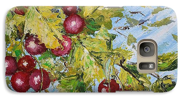 Galaxy Case featuring the painting Cherry Breeze by Kathleen Pio