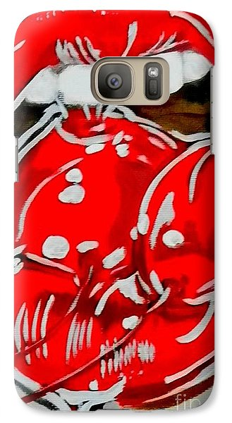 Galaxy Case featuring the painting Cherry Lips by Marisela Mungia