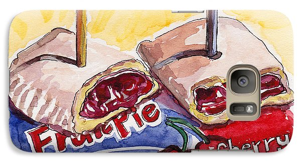 Galaxy Case featuring the painting Cherry Pie Indulgence by Julie Maas