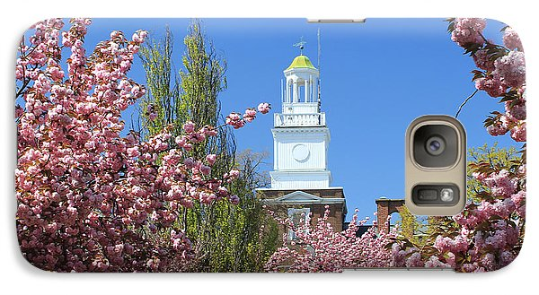 Galaxy Case featuring the photograph Cherry Trees And Village Hall by Jose Oquendo