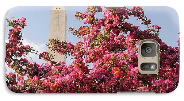 Galaxy Case featuring the photograph Cherry Trees And Washington Monument 5 by Mitchell R Grosky
