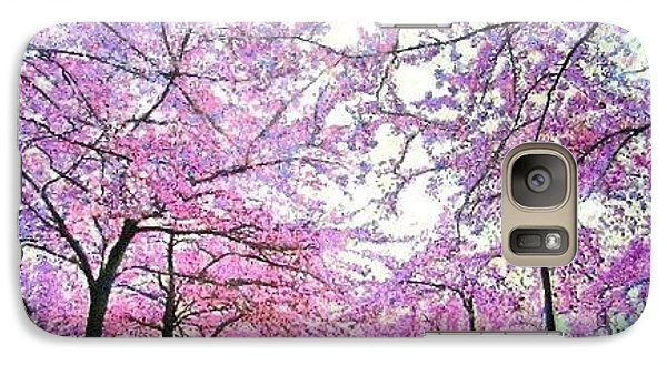 Galaxy Case featuring the painting Cherry Trees In Washington Dc by Marie-Line Vasseur